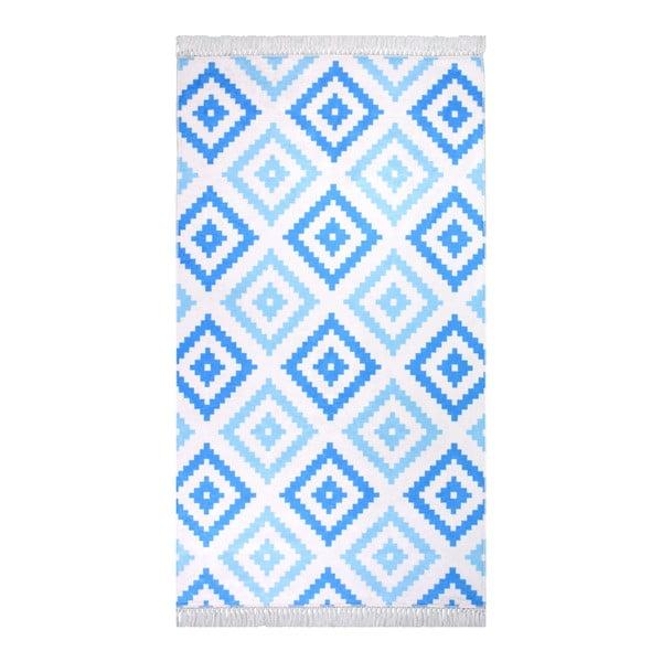 Hali Cift Renk Mavi szőnyeg, 80 x 150 cm - Vitaus