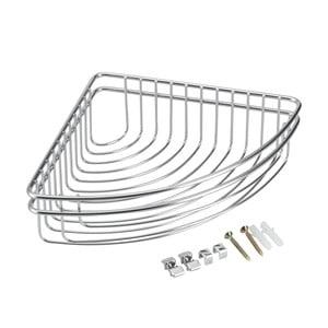 Rohový koupelnový košík z nerezové oceli Metaltex Cuba