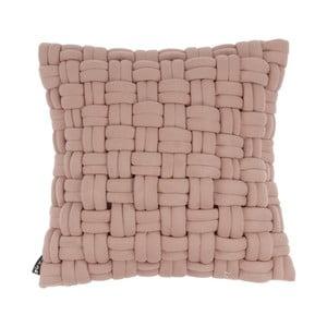 Růžový polštář ZicZac Clusp, 45x45cm