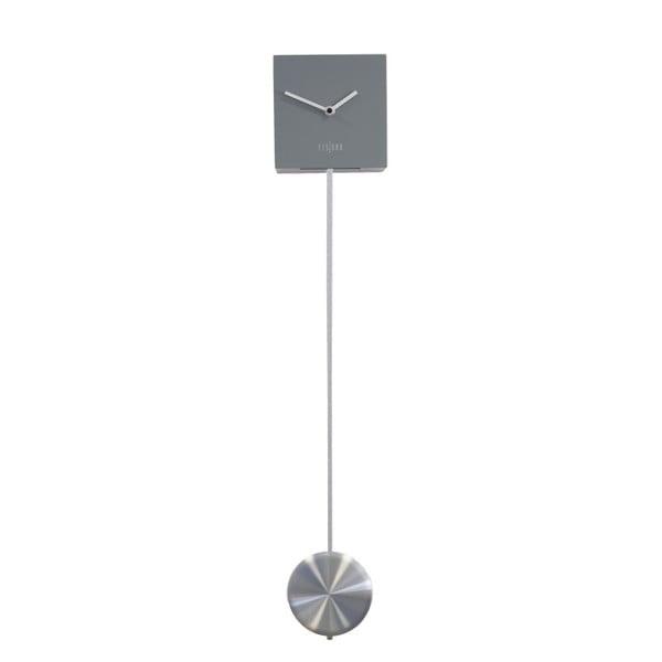 Sivé nástenné hodiny Fisura Pendulum