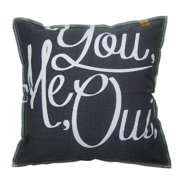 Tmavě modrý polštář OVERSEAS You Me Oui,45x45cm