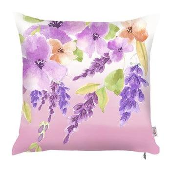 Față de pernă Apolena Field Flowers, 43 x 43 cm, violet de la Apolena