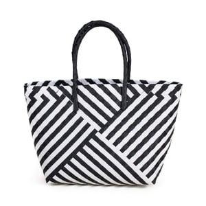 Bílo-černá plážová taška Art of Polo Gura