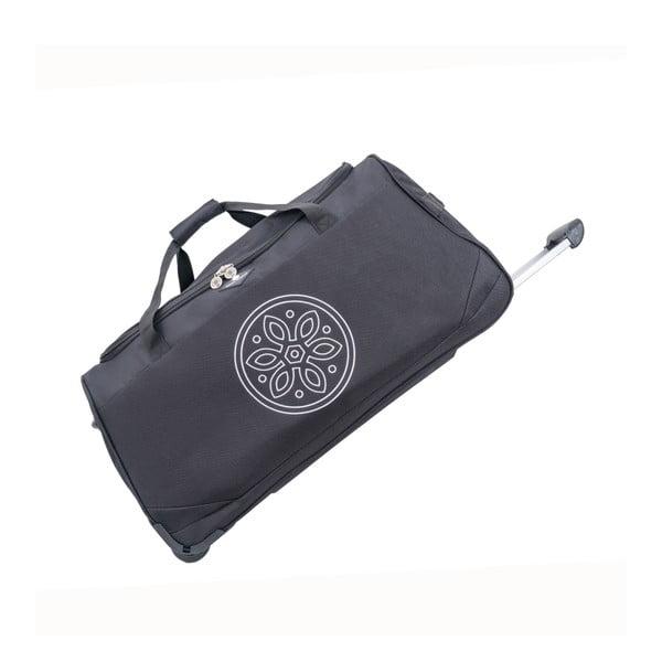Čierna cestovná taška na kolieskach GERARD PASQUIER Miretto, 91 l
