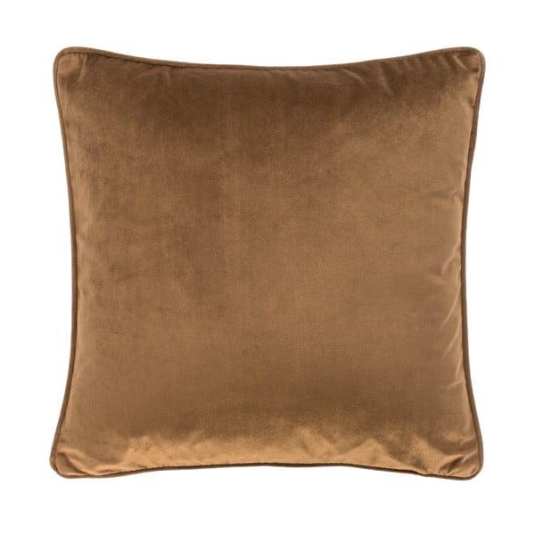 Tmavě hnědý polštář Tiseco Home Studio Velvet, 45x45cm
