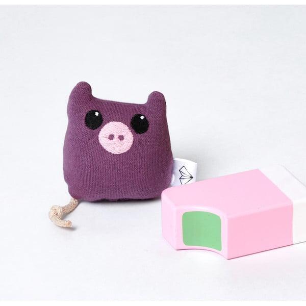 Mini plyšák Prase v krabičce, fialový