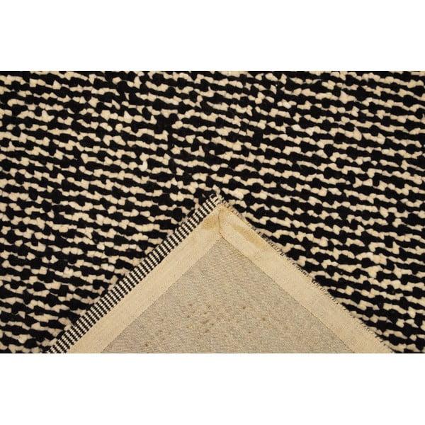 Vlněný koberec Monza Black/White, 170x240 cm
