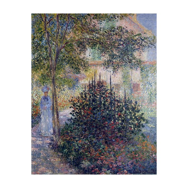 Obraz Claude Monet - Camille Monet in the Garden at Argenteuil, 90x70 cm
