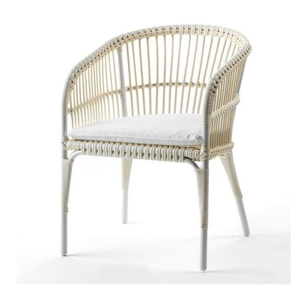 Kremowe krzesło Thai Natura Woven