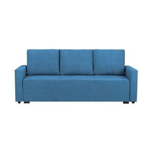 Modrá třímístná rozkládací pohovka s úložným prostorem Melart Francisco