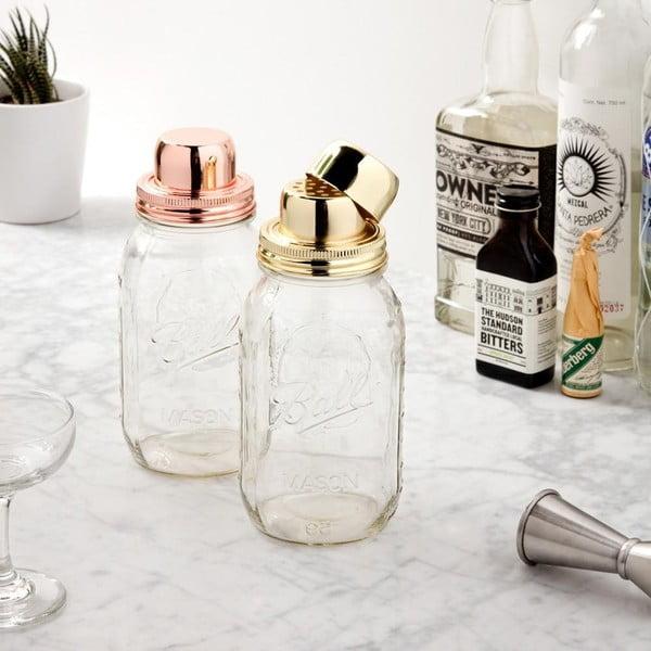 Shaker din sticlă cu dop auriu W&P Design The Mason