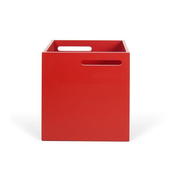 Berlin piros tárolódoboz könyvespolchoz - TemaHome