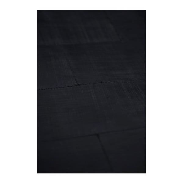 Černý koberec z pravé kůže Fuhrhome Athens, 120x180cm