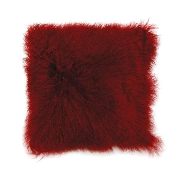 Polštář z mongolské vlny, červený