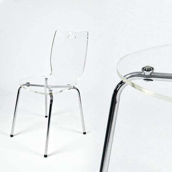 Jídelní židle Terry, transparentní