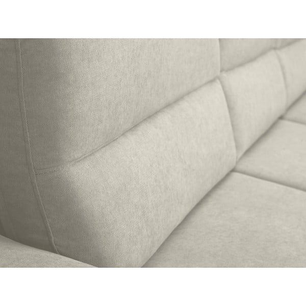 Béžová rozkládací rohová pohovka Windsor & Co Sofas Omega, pravý roh