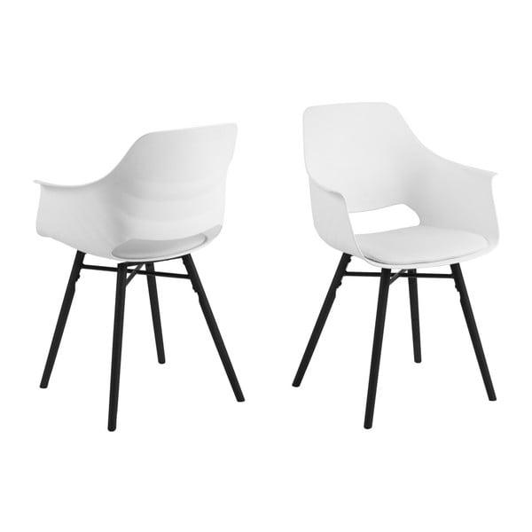 Bílo-černá jídelní židle Actona Ramona