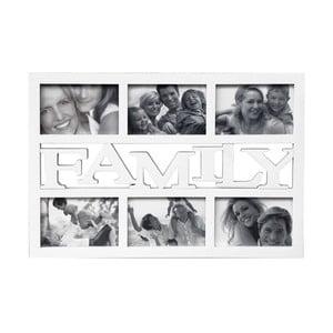 Fotorám na 6 fotek Family, bílý