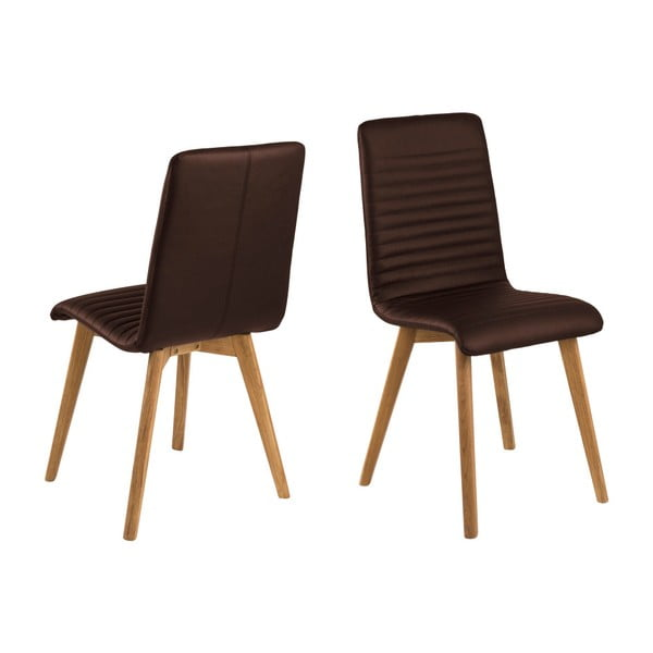 Set 2 scaune Actona Arosa, maro închis