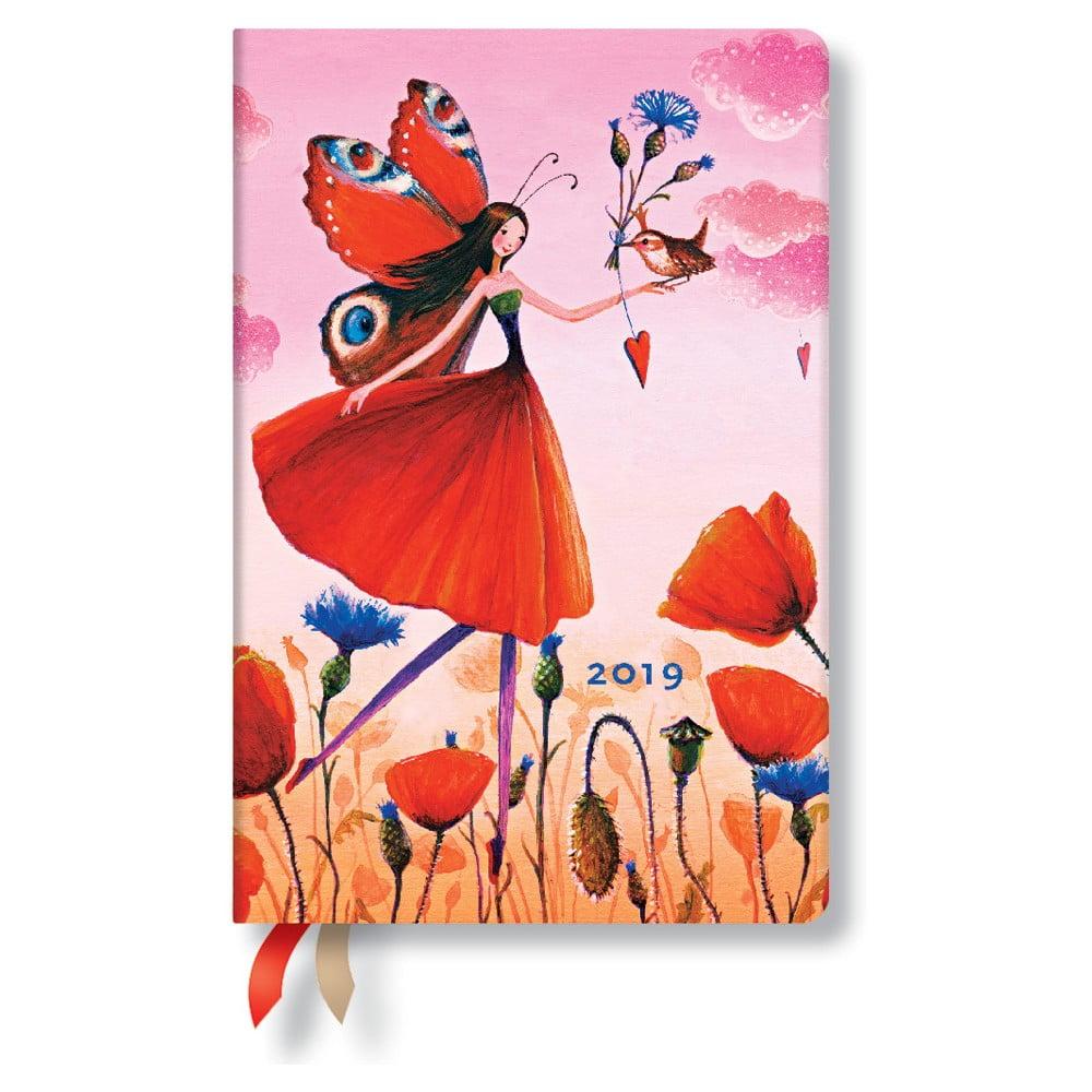 Diář na rok 2019 Paperblanks Poppy Field Horizontal, 160 stran