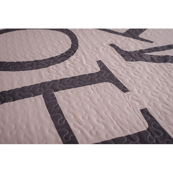 Prošívaný přehoz Home 200x220 cm, krémový