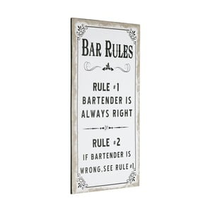Cedule Bar Rules, 60x30 cm