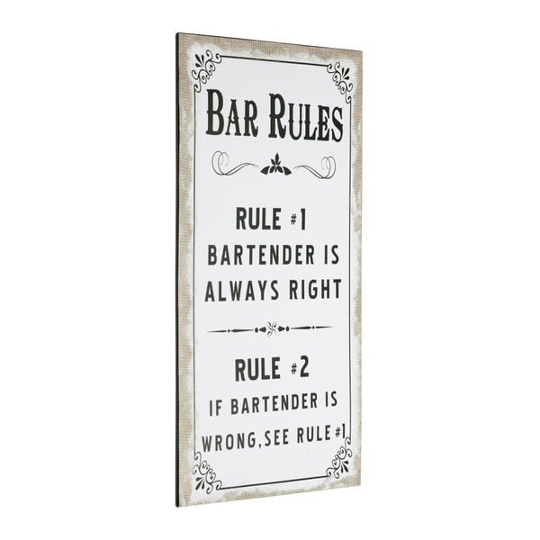 Cedule Bar Rules, 60x30 cm