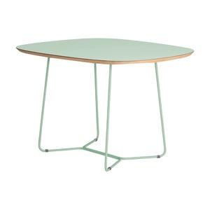 Světle zelený stůl s kovovými nohami IKERMaple