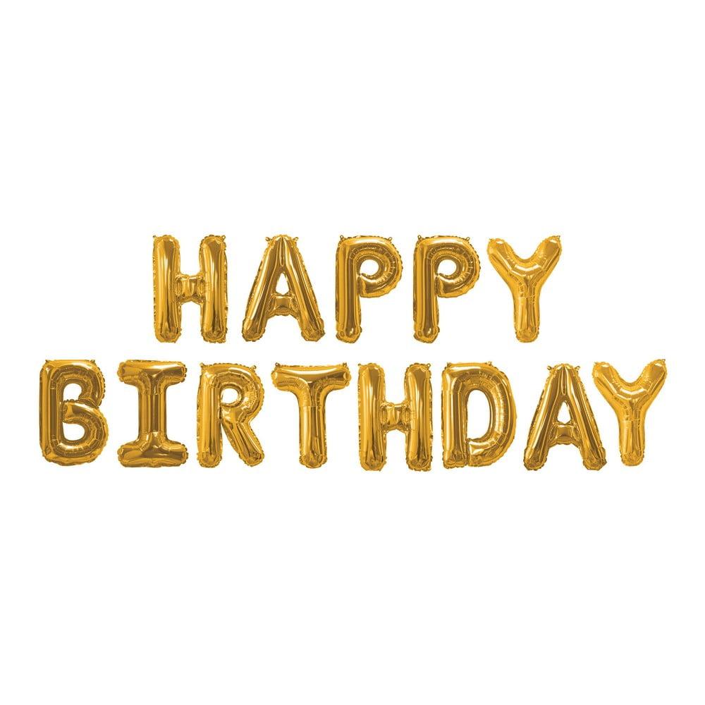 Balónek s nápisem HAPPY BIRTHDAY Neviti Gold