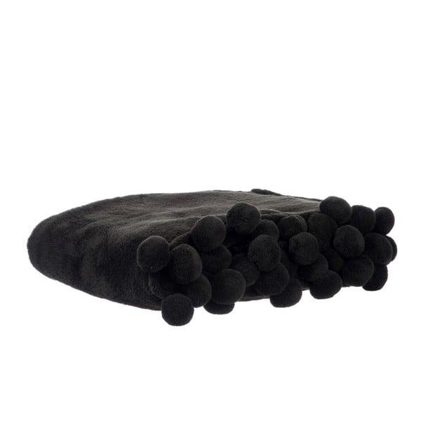 Pléd Pom-Pom Black, 127x152 cm
