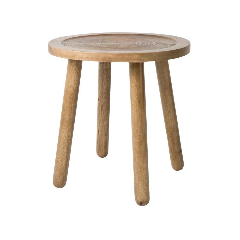 Odkládací stolek z mangového dřeva Zuiver Dendron, ⌀ 43 cm