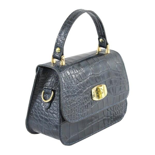 Modrá kožená kabelka Caroline
