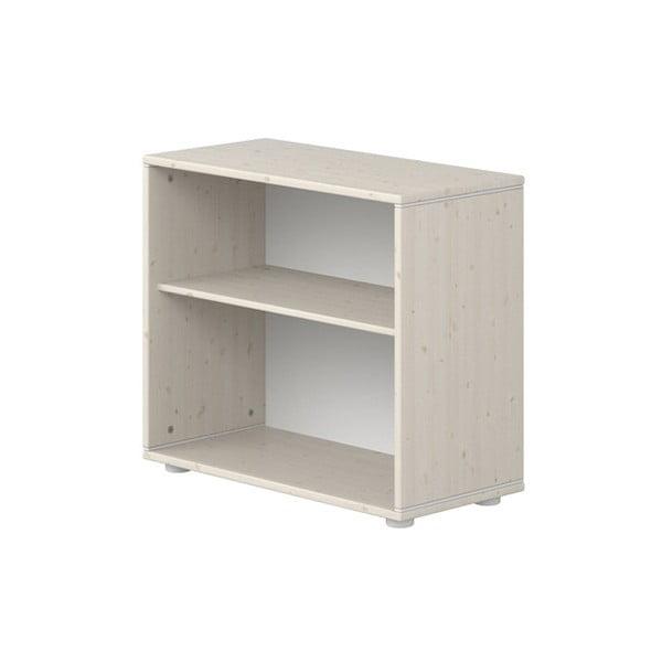 Biała szafka dziecięca z drewna sosnowego Flexa Classic, szer. 72 cm
