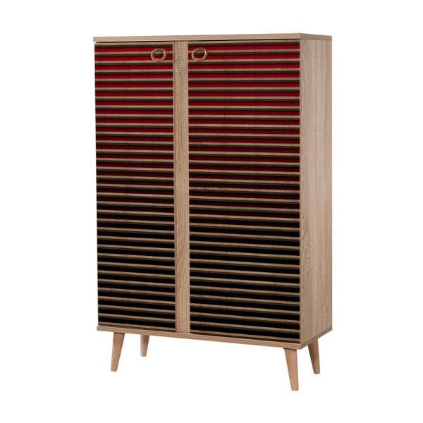 Variabilní dvoudveřová komoda Newbox Red Classic, 126 x 80 cm