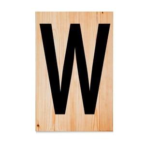 Dřevěná cedule Letters W