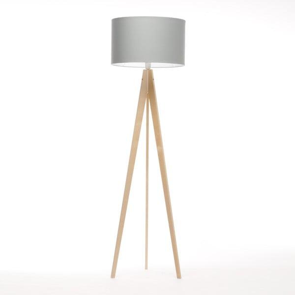 Světle modrá stojací lampa 4room Artist, bříza, 150 cm