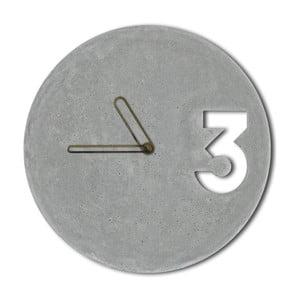 Ceas din beton cu indicatoare mărginite cu auriu Jakub Velinsky