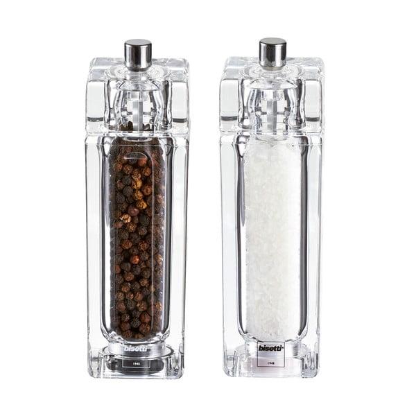 Só- és borsörlő szett, 14,5 cm - Bisetti