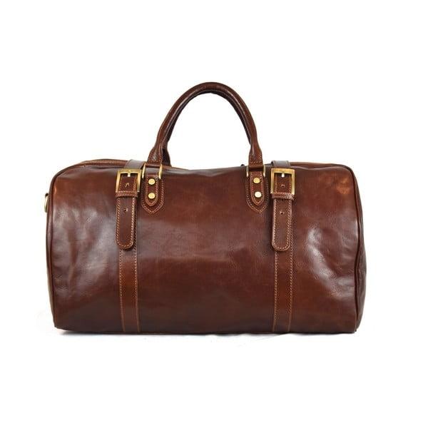 Kožená taška Santo Croce VL936 Brown