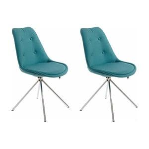Sada 2 modrozelených jídelních židlí Støraa Dylan