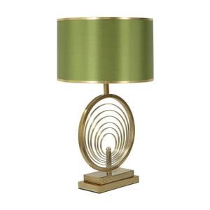Zelená stolní lampa s konstrukcí ve zlaté barvě Mauro Ferretti Oblix
