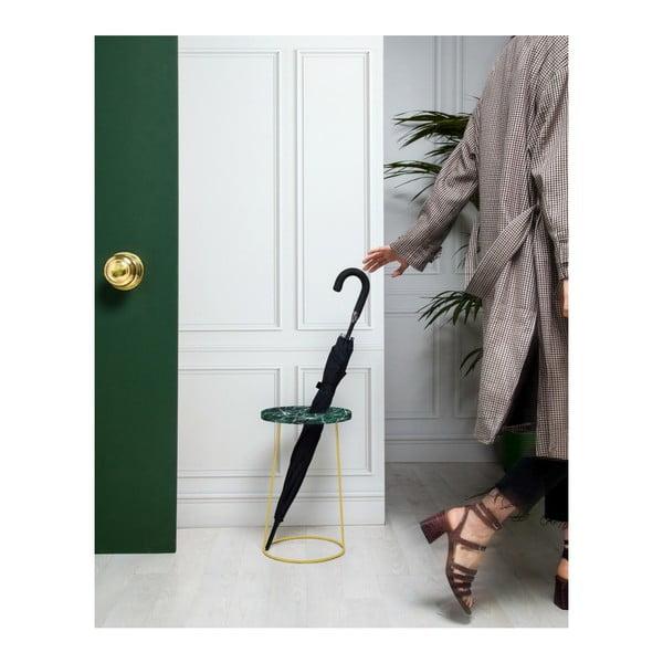 Zelený stojan na deštníky/květináč v dekoru mramoru Velvet Atelier