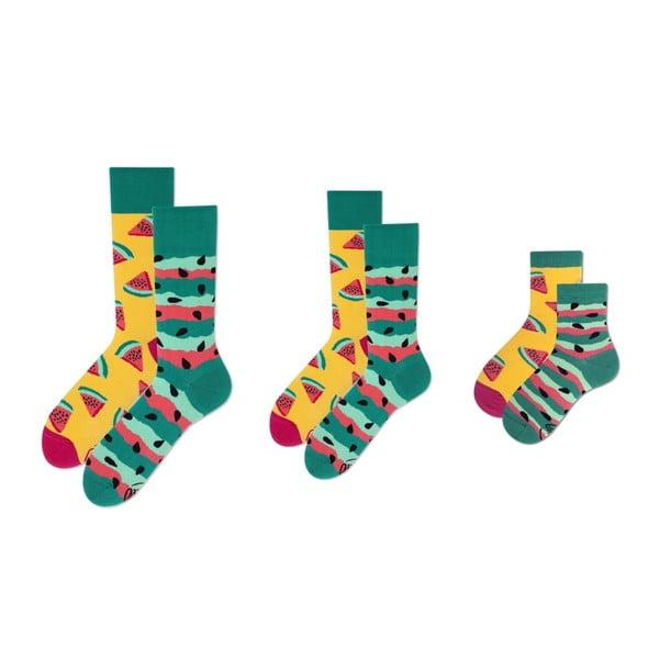 Rodinná sada 3 párů ponožek v dárkovém balení Many Mornings Watermelon Petit
