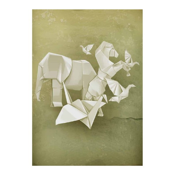 Plakát Origami Zoo, A3
