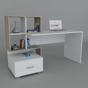 Pracovní stůl Bloom White/Cordoba, 60x120x73,8 cm