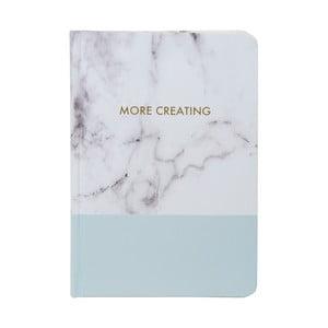 Zápisník Tri-Coastal Design Stockholm Marble, modrý