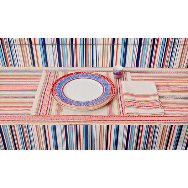 Sada 4 porcelánových talířů na pizzu Oilily 31 cm, modrý okraj