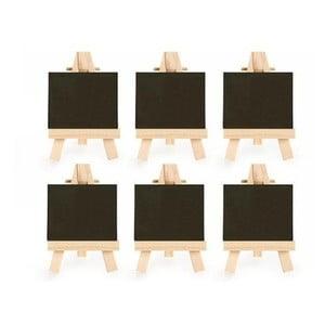 Sada 6 malých křídových tabulí se stojánkem Kikkerland Class
