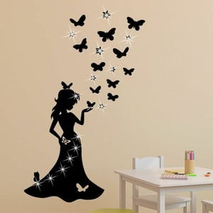 Samolepka se Swarovski Elements Princess and Butterflies