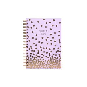 Zápisník Tri-Coastal Design Write It Down Golden Rain, 120 stránek